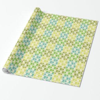 Papier Cadeau Papier d'emballage de vacances de patchwork de