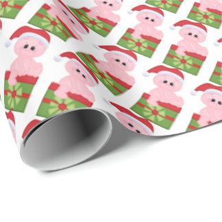 Papier Cadeau Papier d'emballage de vacances de porc de Noël