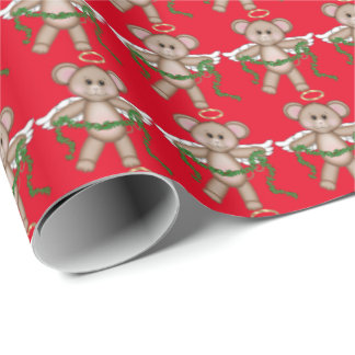 Papier Cadeau Papier d'emballage de vacances de souris d'ange de