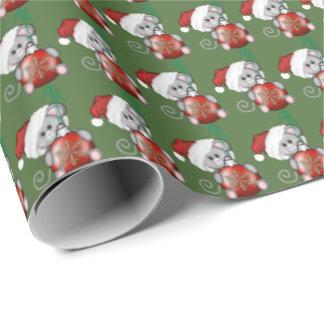 Papier Cadeau Papier d'emballage de vacances de souris de Noël