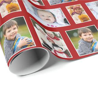 Papier Cadeau Papier d'emballage de vacances rouges de photo