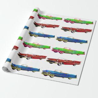 Papier Cadeau papier d'emballage de voiture vintage