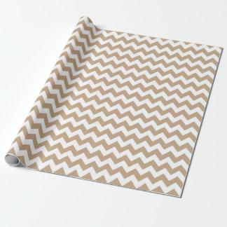 Papier Cadeau Papier d'emballage de zigzag de Brown Chevron