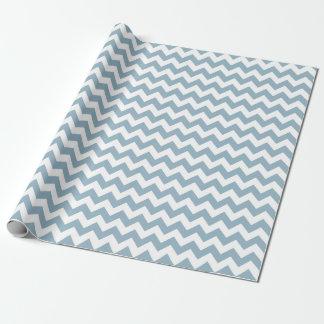 Papier Cadeau Papier d'emballage de zigzag de Chevron de bleu