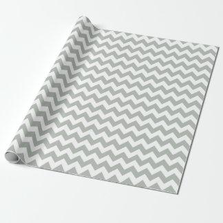 Papier Cadeau Papier d'emballage de zigzag de Chevron de gris