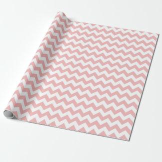 Papier Cadeau Papier d'emballage de zigzag rose de Chevron de