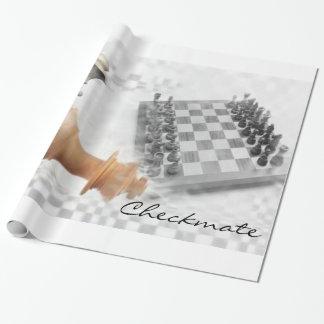 Papier Cadeau Papier d'emballage d'échec et mat