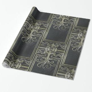 Papier Cadeau Papier d'emballage d'Eldrich (noir et or)