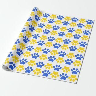 Papier Cadeau Papier d'emballage d'empreinte de patte de chats
