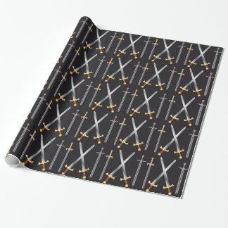 Papier Cadeau papier d'emballage d'épées