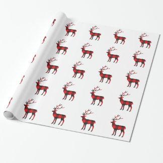 Papier Cadeau Papier d'emballage des cerfs communs | de plaid de