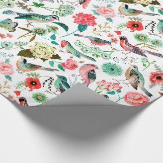 Papier Cadeau Papier d'emballage des oiseaux |