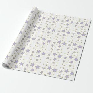 Papier Cadeau Papier d'emballage d'étoile pourpre