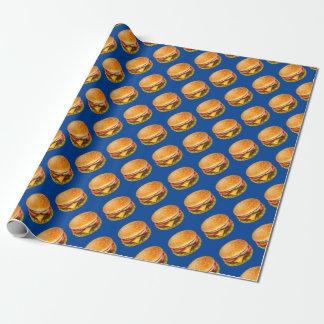 Papier Cadeau Papier d'emballage d'hamburger américain