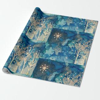Papier Cadeau Papier d'emballage d'hiver de Starlight