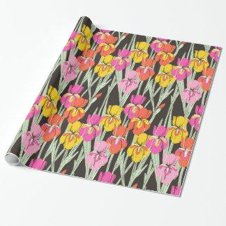 Papier Cadeau Papier d'emballage d'iris d'impression de bloc