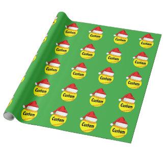 Papier Cadeau Papier d'emballage du base-ball de Père Noël de