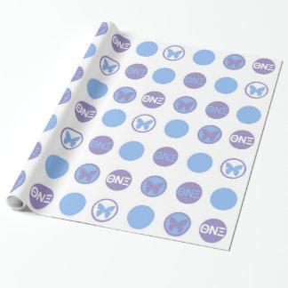 Papier Cadeau Papier d'emballage du NU XI de thêta, brillant,