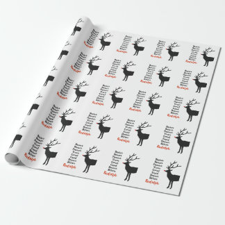 Papier Cadeau Papier d'emballage du renne | de Père Noël