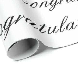 Papier Cadeau Papier d'emballage - félicitations