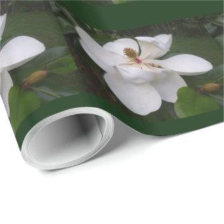 Papier Cadeau Papier d'emballage - fleur II de magnolia du sud