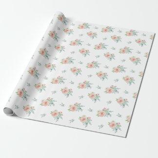 Papier Cadeau Papier d'emballage floral d'aquarelle