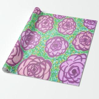 Papier Cadeau Papier d'emballage floral de roseraie de très bon