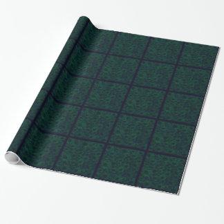 Papier Cadeau Papier d'emballage floral de vert grunge foncé de