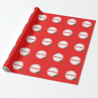 Papier Cadeau Papier d'emballage gai de houx de cirque