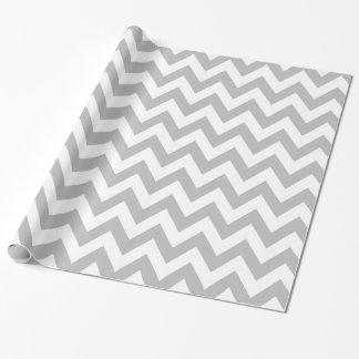 Papier Cadeau Papier d'emballage gris-clair et blanc de Chevron