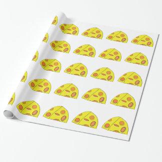Papier Cadeau Papier d'emballage - gros morceau de fromage