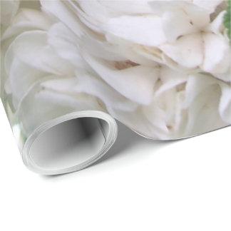 Papier Cadeau Papier d'emballage - hortensia blanc