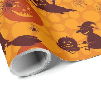 Papier Cadeau Papier d'emballage mat d'amusement de Halloween,