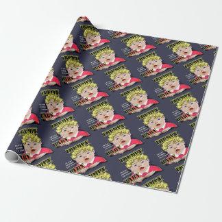 Papier Cadeau Papier d'emballage mat de bébé de Trumpy