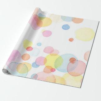 Papier Cadeau Papier d'emballage mat de cercles colorés de