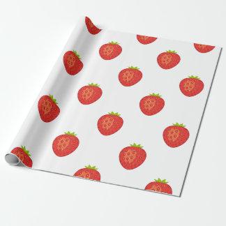 Papier Cadeau Papier d'emballage mat de fraise