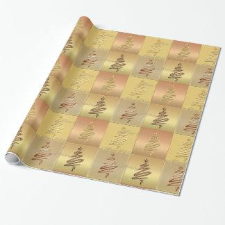 Papier Cadeau Papier d'emballage métallique de cuivre d'arbre de