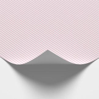 Papier Cadeau Papier d'emballage mince de rayures rose-clair et