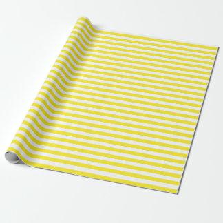 Papier Cadeau Papier d'emballage moyen de rayures jaunes et