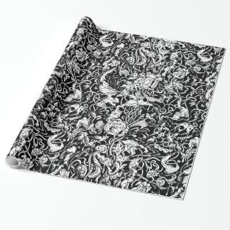 papier cadeau dessin noir blanc. Black Bedroom Furniture Sets. Home Design Ideas