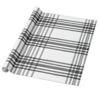 Papier Cadeau Papier d'emballage noir et blanc de plaid