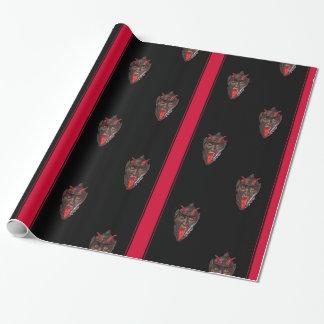 Papier Cadeau Papier d'emballage rayé de Krampus