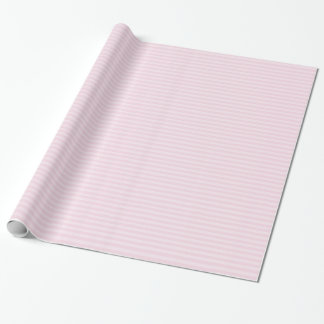 Papier Cadeau Papier d'emballage rayé rose