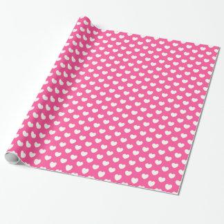 Papier Cadeau Papier d'emballage rose de jour de valentines de