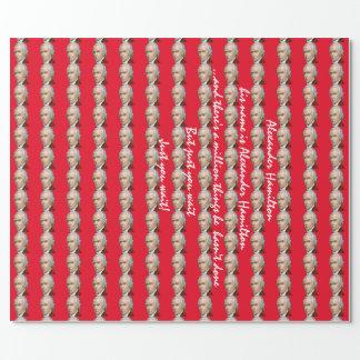 Papier Cadeau Papier d'emballage rouge d'Alexander Hamilton
