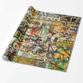 Papier Cadeau papier d'emballage urbain de graffiti
