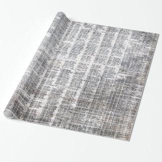Papier Cadeau papier d'emballage urbain de journal