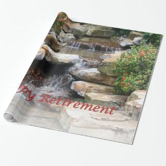Papier Cadeau Papier d'enveloppe de cascade de cascade de jardin