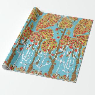 Papier Cadeau Papier heureux d'emballage cadeau d'automne
