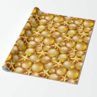Papier Cadeau Papier imprimé par ornements de scintillement d'or